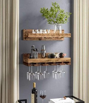爱喝酒的人怎能不在家里打造一个小酒吧