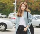 时髦好看的韩版中长发发型图片