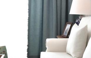 还在纠结窗帘选什么颜色?纯色窗帘就很美!