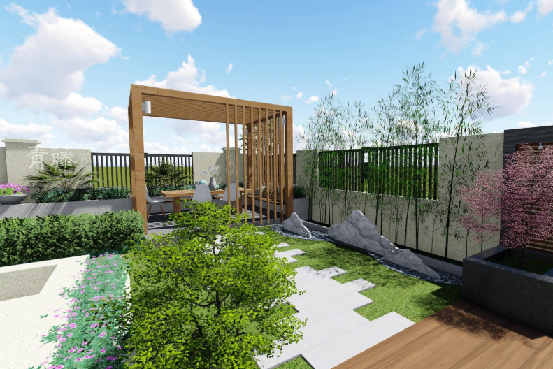 别墅庭院设计:花园应该如何造景?