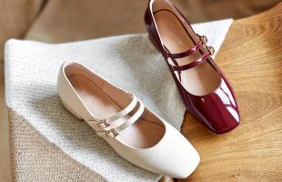 英伦可爱风格穿搭少不了玛丽珍鞋,自带高级感!