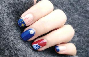 中国风美甲太好看了!看看水墨画在指尖有多惊艳!
