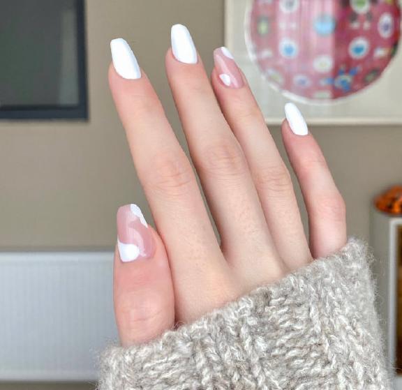 纯洁美丽的白色美甲推荐!奶白色真的太温柔啦!