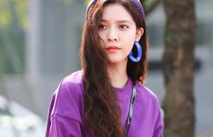 烟灰紫显白穿搭示范!紫色裙子非常有小仙女的感觉呀!