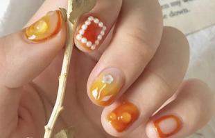 橘子汽水美甲超好看!这就是专属夏天的美甲呀!