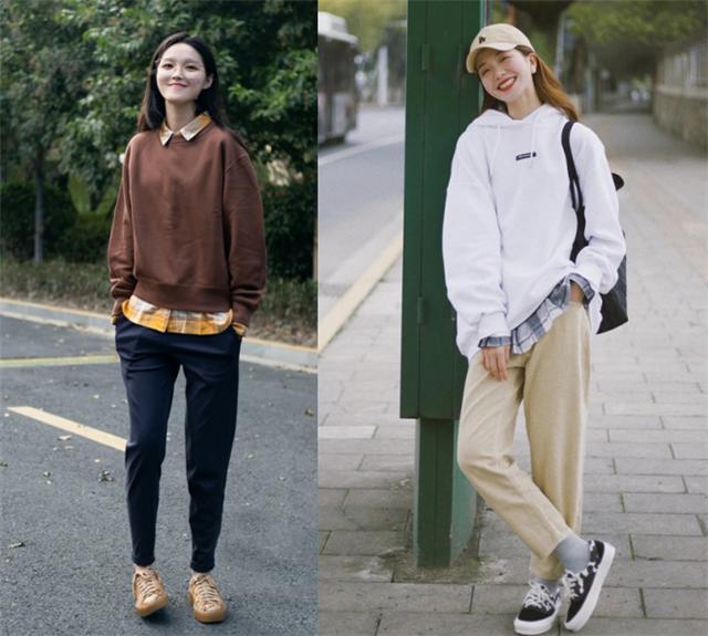 """今年火了一种穿法,叫""""卫衣+衬衫""""青春时髦又洋气"""